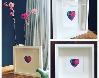 Original 'heart-work' commissioned in the colours of your chosing