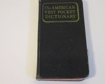 Dictionary, American Vest Pocket Dictionary, Vintage Dictionary