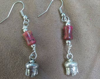 Red Buddha Earrings