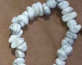 Howlite Gemstone Stretch Bracelet