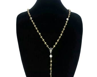Gold & Silver Rosary Necklace