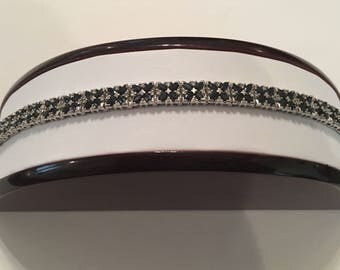 Vintage Bita Effy 14K White Gold Diamond & Blue Sapphire Link Tennis Bracelet