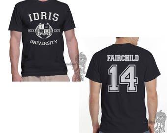 Fairchild 14 Idris University printed on MEN tee Black
