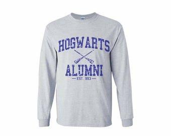 Hgwrts Alumni #1 Blue print on Longsleeve MEN tee