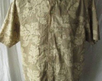 Lucky Horse Mens Floral Short Sleeved 100% Cotton Casual Shirt Sz M Medium Used