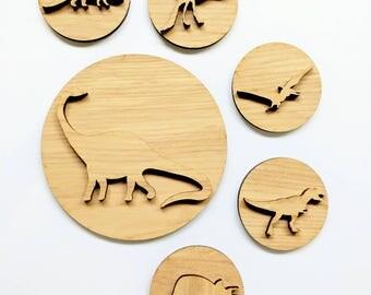 Playdough stampers - dinosaur playdough stamps - wooden playdough tools - dinosaur toy - Christmas gift - stocking stuffers - gift for kids