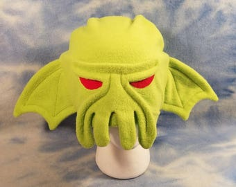 Cthulhu Hat Beanie Lovecraft Tentacle Monster Fleece Elder God