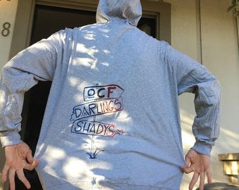 OCF darlings shadys 2XL long sleeve zip up with hood and pockets