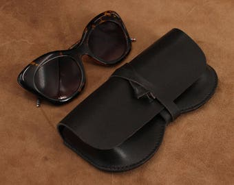 Leather Sunglasses Holder Glasses Case Sunglass Cover Case Leather Case for Reading Glasses