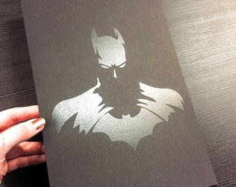Batman matte black print