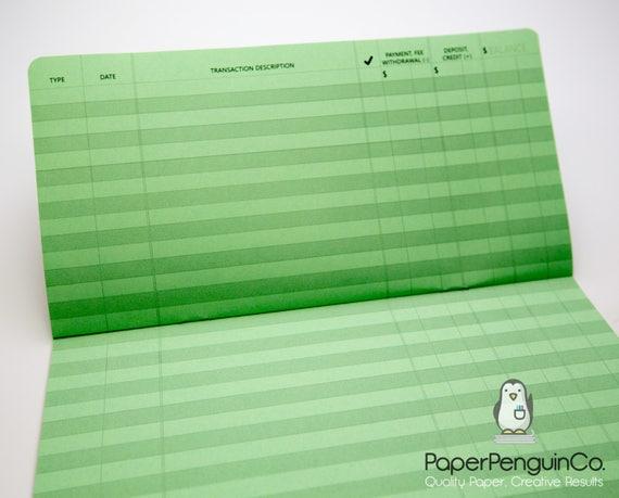 Midori Insert Checkbook Transaction Register Brown Cover MTN Traveler's Notebook Regular A5 Wide B6 Personal A6 Pocket Field Notes Passport