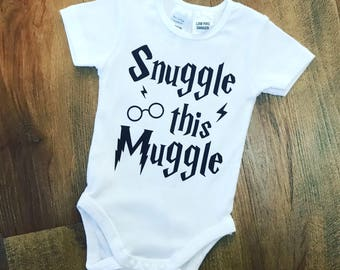 Snuggle this Muggle Baby Onesie, Baby Romper, Harry Potter