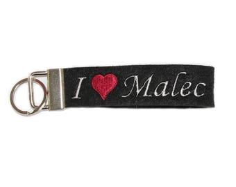 Shadowhunters /Malec inspired key chain