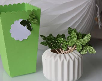Custom pop corn or candies for party paper - table box