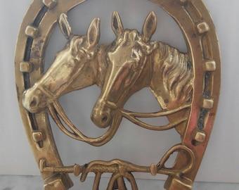 Brass Horseshoe with Keychain