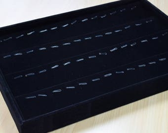 "Black Velvet Pendants Tray Display, Display 56 Pendants Size 14""x9.5""x1.25"" Item# 160000302501"