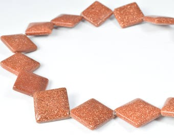 15mm Rectangle Sandstone Gemstone Beads 1 strand 20PCs Size Hole Size 1.5mm Natural, healing, chakra, Jewelry Making,Wholesale Beads