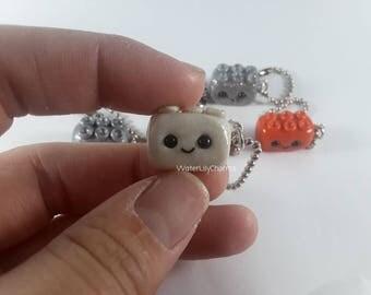 Block Charm,Chibi Lego,Polymer Clay Charms
