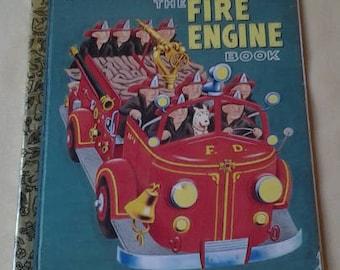 Golden Books ~ The Fire Engine Book ~ a Little Golden Book Classic ~ Children Book ~ Story Book ~ Fire Engines ~ Seths Vintage Emporium