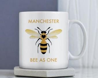 Manchester Mug | Charity |  Manchester Bee Mug | Bee Mug | Bee As One Mug | Manchester