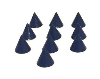 Blue Rivets 8mm TEN Sets / Blue Spike Rivets / Blue Cone Rivets / Dark Blue Rivets / Navy Blue Rivets / Colored Cone Rivets / Set of TEN