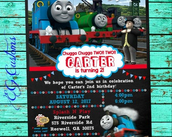 Thomas Train Invitations/ Thomas Invitation/ Thomas Train Birthday/ Thomas Train Party/ Thomas Card/ Thomas Invite/ Thomas Invitation