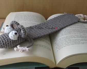 Crochet Amigurumi rat bookmark, bookworks, teacher gift, handmade amigurumi, mouse bookmark, crochet bookmark, funny bookmark, book cover