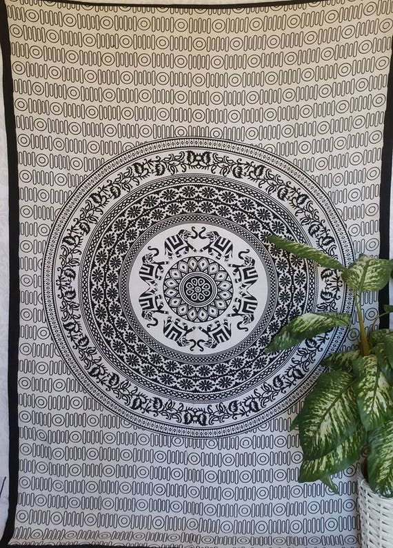 Wall Tapestry, Elephant Tapestry, Print Tapestry, Hippie wall tapestry, Beach tapestry, Table Runner, Mandala Tapestry, xmas gift for her