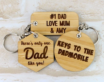 Fathers Day Keychain - Fathers Day Gift