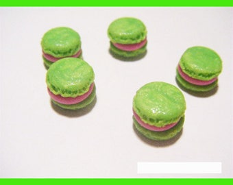 Polymer clay lot miniature vial treats candy macaroon charms