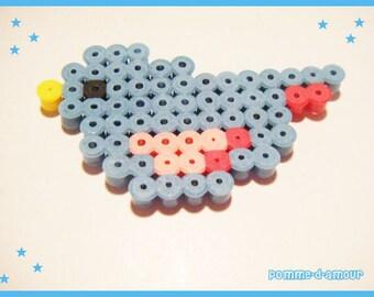 hama pixel art kawaii bird bead
