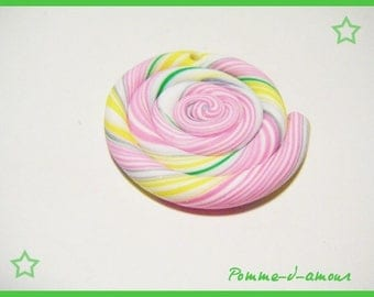 1 bead fimo polymer candy cute lollipop charm