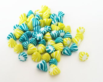 ♥ 60 miniature berlingots Fimo polymer clay for jar ♥