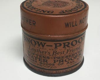 Vintage Tin, Leather Cleaner, Man Cave