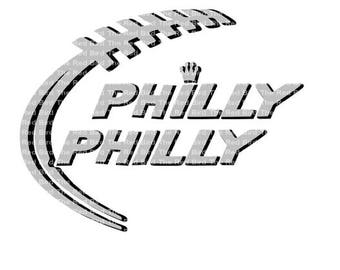 Philly Philly Philadelphia football laces funny Digital download cut file  SVG, DXF, PnG, EpS, PdF