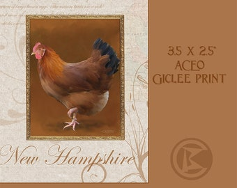ACEO New Hampshire Hen