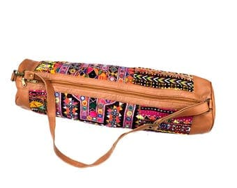 India Block Printed Banjara Handbag in Multi Color
