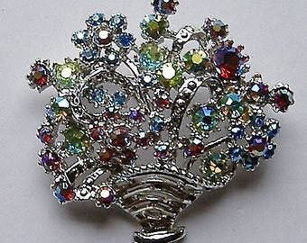 1950S DIAMANTE brooch