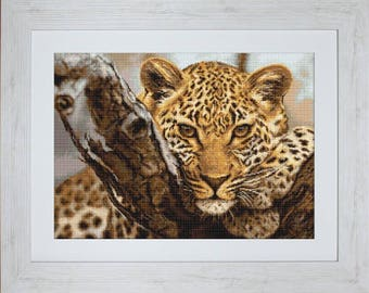 Gobelin kit Leopard Petit point