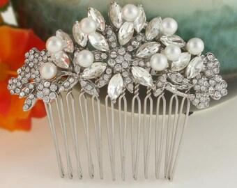 Bridal Hair, Hair Accessories, Bridal Hair Comb, Wedding Hair Comb, Crystal Hair Comb, Prom Hair