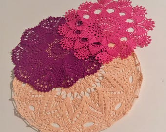 Trio of matching doilies