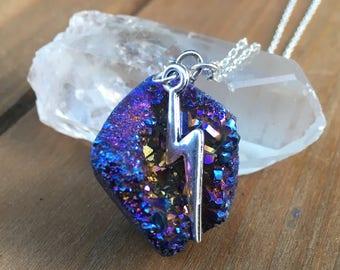 Lightening Bolt Crystal Necklace