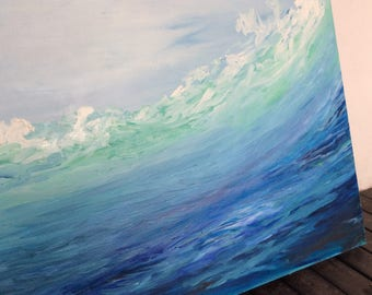 Large Canvas, Art Oil Painting, Ocean Oil Painting, Seascape Painting, Paint on Canvas, Abstract Art, Contemporary Art, Gift, New House