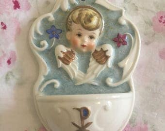 Vintage 1970's Goebel Holy Water Font - Angel - Rob 423 - W Germany