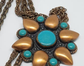 Vintage Bell Trading Company flower necklace
