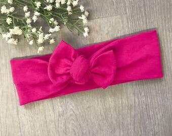 Hot Pink Headband / Baby Headband / Toddler Headband / Baby Shower / Baby Bow / Newborn Gift / Baby Gift