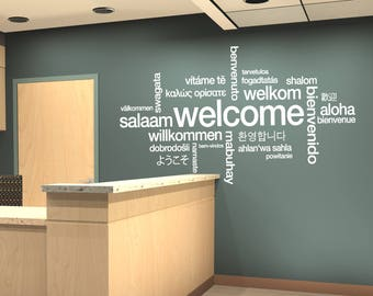 Hello in different languages wall decor