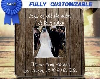 Father Of The Bride Gift Dad Wedding Gift Father Wedding Gift Picture Frame Of All The Walks We've Taken Frame Father Of Bride Gift Frame