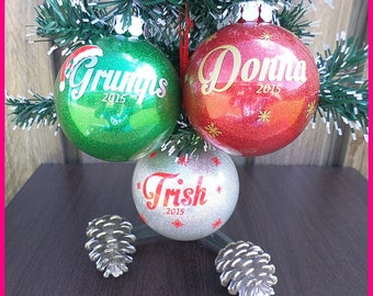 Personalised Name Baubles