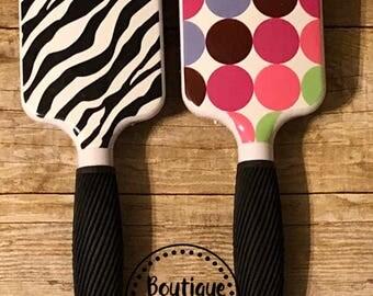Personalized monogrammed paddle brush